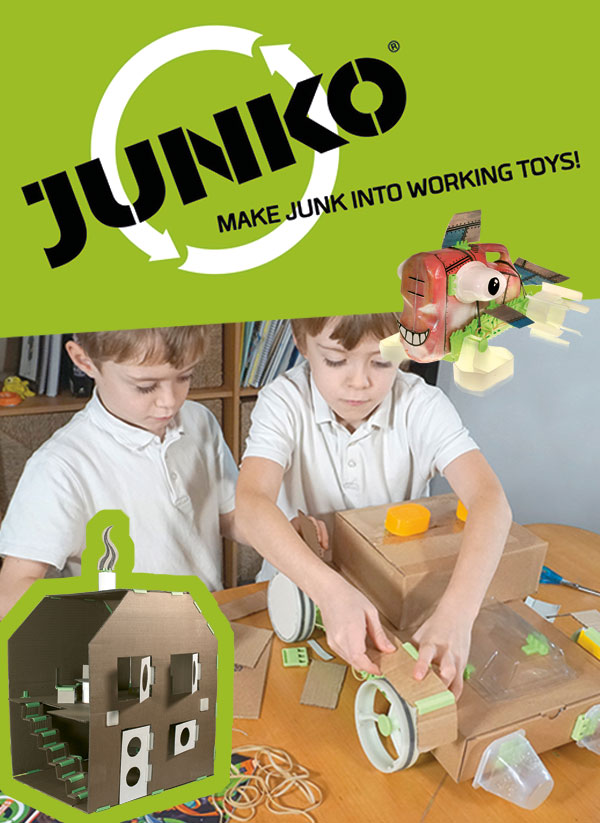 Win a JUNKO Classroom pack of 15 Zoomers! which you can use for a STEAM session with a whole class working in pairs